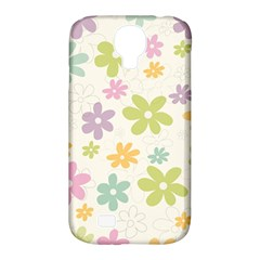 Beautiful spring flowers background Samsung Galaxy S4 Classic Hardshell Case (PC+Silicone)