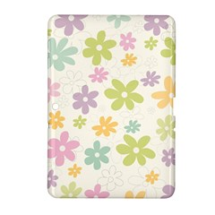 Beautiful spring flowers background Samsung Galaxy Tab 2 (10.1 ) P5100 Hardshell Case