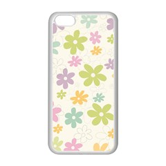 Beautiful spring flowers background Apple iPhone 5C Seamless Case (White)