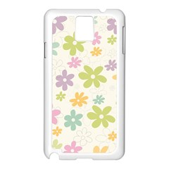 Beautiful spring flowers background Samsung Galaxy Note 3 N9005 Case (White)
