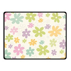 Beautiful spring flowers background Double Sided Fleece Blanket (Small)