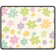 Beautiful spring flowers background Double Sided Fleece Blanket (Medium)
