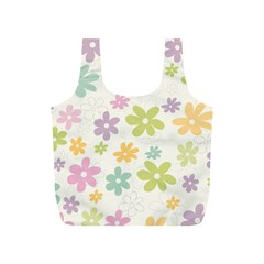 Beautiful spring flowers background Full Print Recycle Bags (S)