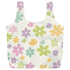 Beautiful spring flowers background Full Print Recycle Bags (L)