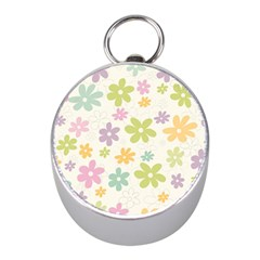 Beautiful spring flowers background Mini Silver Compasses