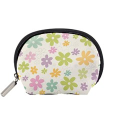 Beautiful spring flowers background Accessory Pouches (Small)