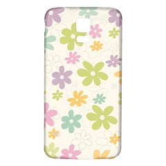 Beautiful spring flowers background Samsung Galaxy S5 Back Case (White)