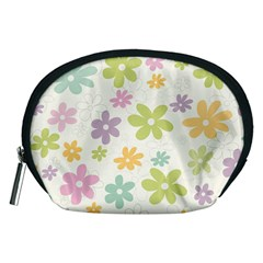 Beautiful spring flowers background Accessory Pouches (Medium)
