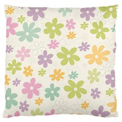 Beautiful spring flowers background Standard Flano Cushion Case (Two Sides)