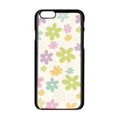 Beautiful spring flowers background Apple iPhone 6/6S Black Enamel Case