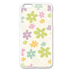 Beautiful spring flowers background Apple iPhone 6 Plus/6S Plus Enamel White Case