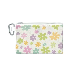 Beautiful spring flowers background Canvas Cosmetic Bag (S)