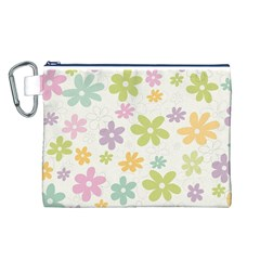 Beautiful spring flowers background Canvas Cosmetic Bag (L)