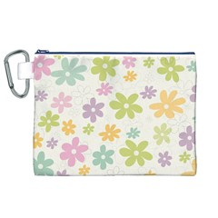 Beautiful spring flowers background Canvas Cosmetic Bag (XL)