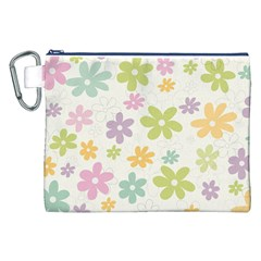 Beautiful spring flowers background Canvas Cosmetic Bag (XXL)