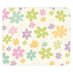 Beautiful spring flowers background Double Sided Flano Blanket (Small)