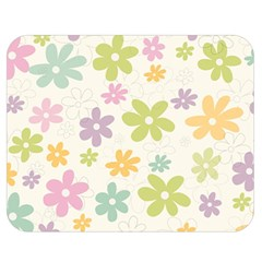 Beautiful spring flowers background Double Sided Flano Blanket (Medium)