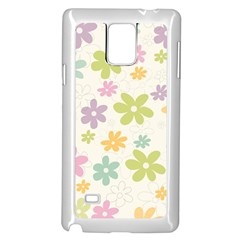 Beautiful spring flowers background Samsung Galaxy Note 4 Case (White)