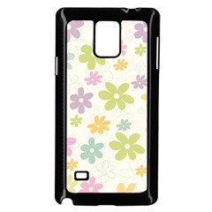 Beautiful spring flowers background Samsung Galaxy Note 4 Case (Black)