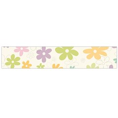 Beautiful spring flowers background Flano Scarf (Large)