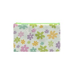 Beautiful spring flowers background Cosmetic Bag (XS)