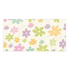 Beautiful spring flowers background Satin Shawl