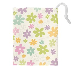Beautiful spring flowers background Drawstring Pouches (XXL)