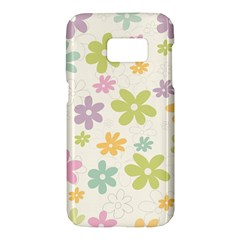 Beautiful spring flowers background Samsung Galaxy S7 Hardshell Case