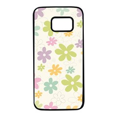 Beautiful spring flowers background Samsung Galaxy S7 Black Seamless Case
