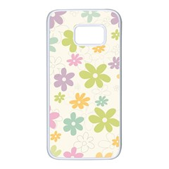 Beautiful spring flowers background Samsung Galaxy S7 White Seamless Case