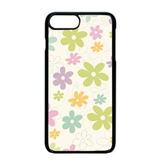 Beautiful spring flowers background Apple iPhone 7 Plus Seamless Case (Black)