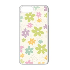 Beautiful spring flowers background Apple iPhone 7 Plus White Seamless Case
