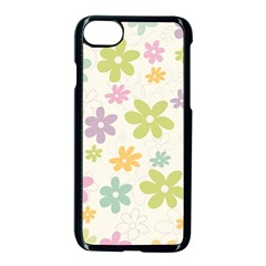 Beautiful spring flowers background Apple iPhone 7 Seamless Case (Black)