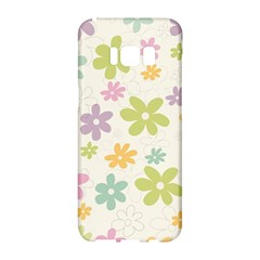 Beautiful spring flowers background Samsung Galaxy S8 Hardshell Case