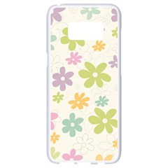 Beautiful spring flowers background Samsung Galaxy S8 White Seamless Case