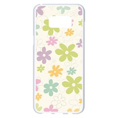 Beautiful Spring Flowers Background Samsung Galaxy S8 Plus White Seamless Case
