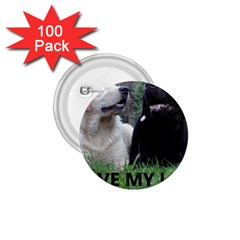 I Love My Labs W Pic 1.75  Buttons (100 pack)