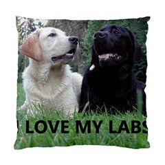 I Love My Labs W Pic Standard Cushion Case (One Side)