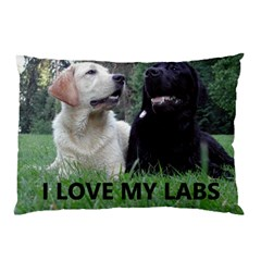 I Love My Labs W Pic Pillow Case