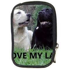 I Love My Labs W Pic Compact Camera Cases