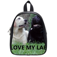 I Love My Labs W Pic School Bags (Small)