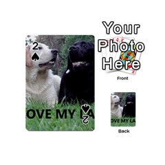 I Love My Labs W Pic Playing Cards 54 (Mini)