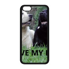 I Love My Labs W Pic Apple iPhone 5C Seamless Case (Black)