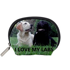 I Love My Labs W Pic Accessory Pouches (Small)