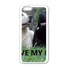 I Love My Labs W Pic Apple iPhone 6/6S White Enamel Case