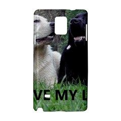I Love My Labs W Pic Samsung Galaxy Note 4 Hardshell Case