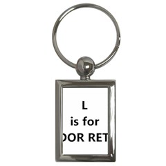 L Is For Lab Key Chains (Rectangle)