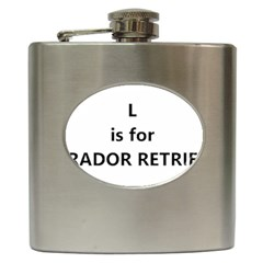 L Is For Lab Hip Flask (6 oz)