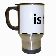 L Is For Lab Travel Mugs (White)