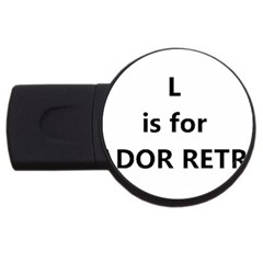 L Is For Lab USB Flash Drive Round (4 GB)